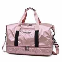Saco de viagem de grande capacidade de bagagem de mão sacos de viagem duffle sacos de fim de semana das mulheres sacos de viagem multifuncional malas de viagem