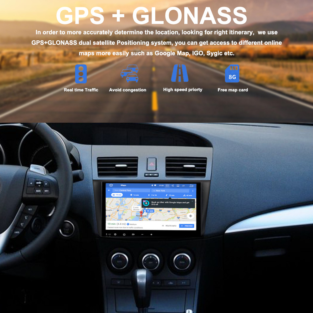Autoradio for Mazda 3 Multimedia 2010 2011 2012 with GPS 9 2 5D IPS Screen Mirror