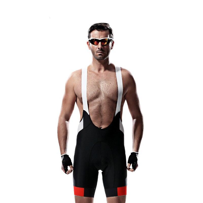 Santic Men Cycle Bib Shorts Race Bib 4D Padded Mesh Tights Bicycle Bike Shorts Reflective Strips