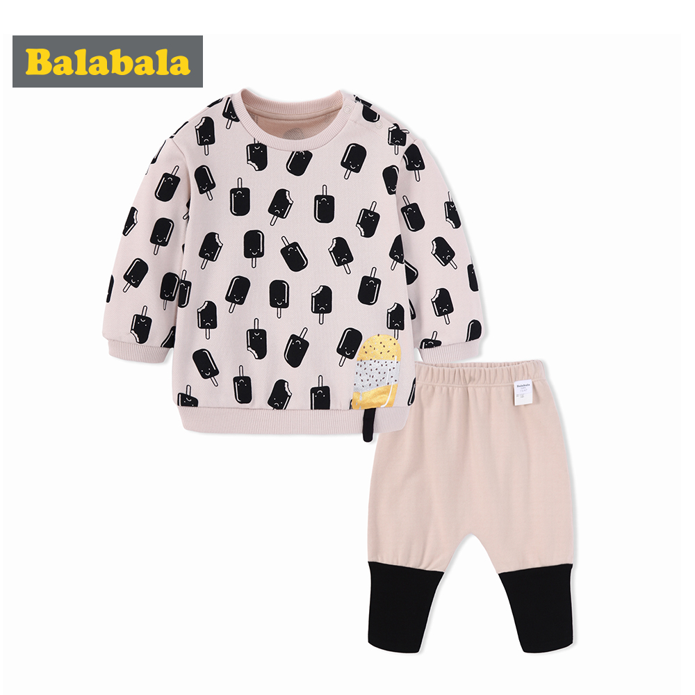 fb3eca8932c Balabala Cotton Baby Girls Clothes set Winter Newborn Baby Clothing Set  2PCS Cartoon Bbaby Boy Clothes Unisex Kids Clothing Sets