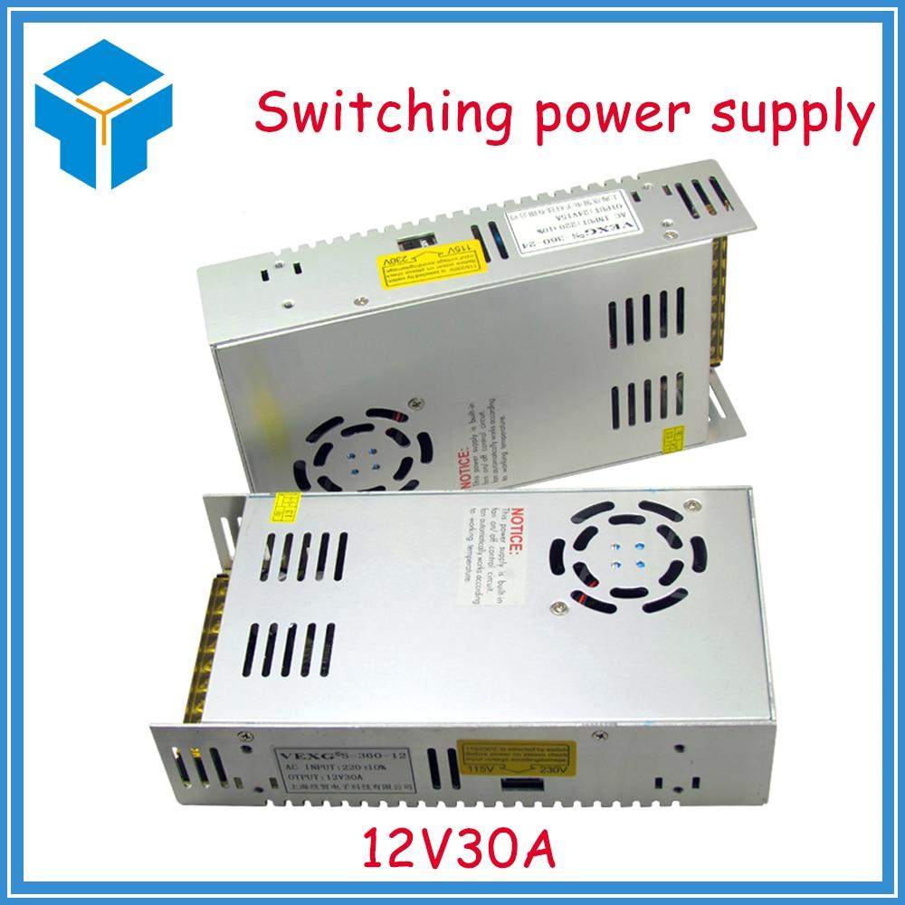 цена на 12V 30A 360W switching power supply adapter led strip light transformer 12v for 3d printer