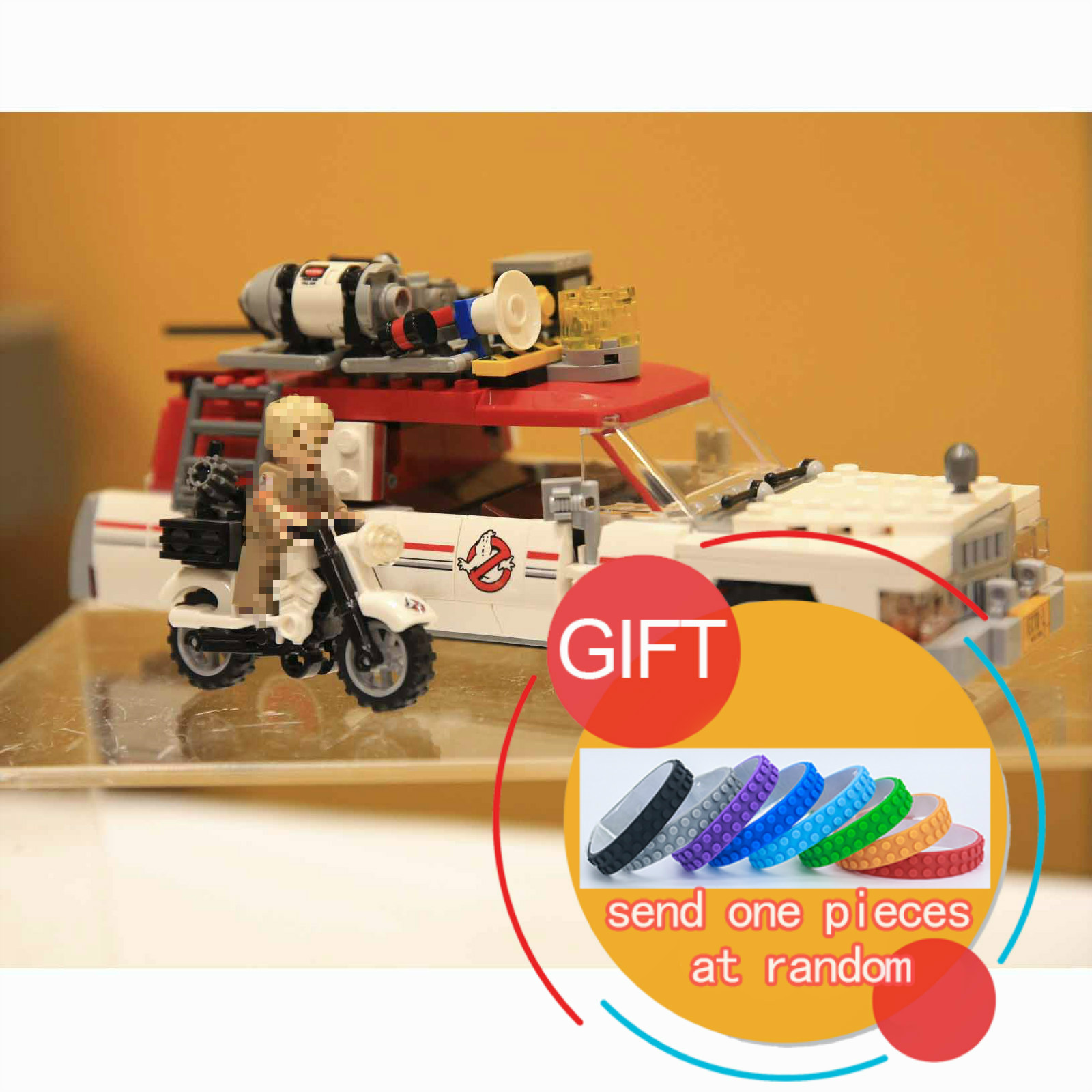 16032 586Pcs Genuine Movie Series The Ghostbusters Ecto Set Children Educational Building 75828 Toys lepin lepin 16032 586pcs new genuine movie series the ghostbusters ecto 1