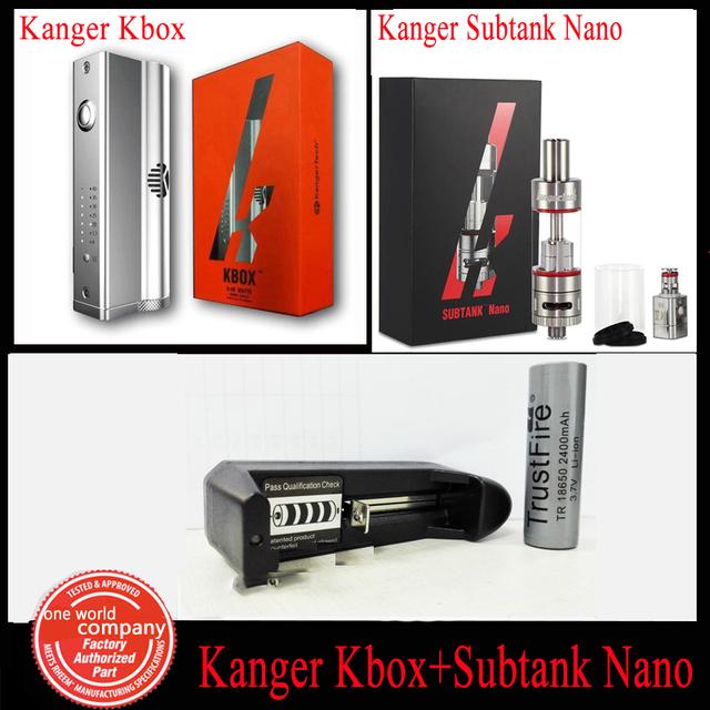 Kanger cigarro eletrônico Kanger Kbox 8 - 40 W Kanger Subtank Nano 3.0 ML com Trustfire 18650 bateria e um compartimento