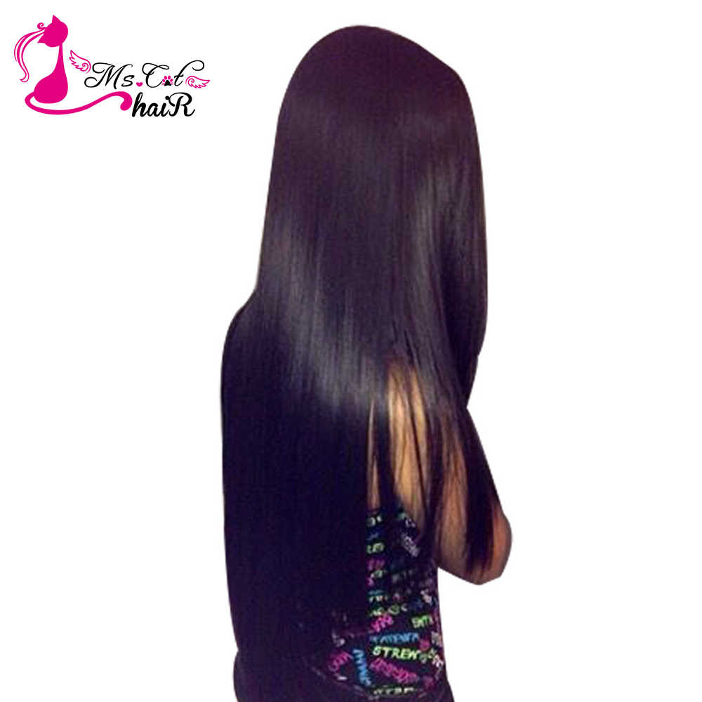 """Бразильские прямые волосы 1/3/4bundles MS Cat волос 100% человеческих волос Weave Связки Natural Цвет 8 """"-26"""" не Волосы remy расширения"""
