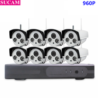 SUCAM Plug And Play 8CH CCTV System Wireless 960P NVR WIFI IP Camera CCTV Home Security