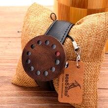 BOBOBIRD 12 отверстия Дизайн Деревянные Часы Мужские Часы Лучший Бренд Роскошные Часы С Натуральной Кожи Ремни, как Рождественские Подарки
