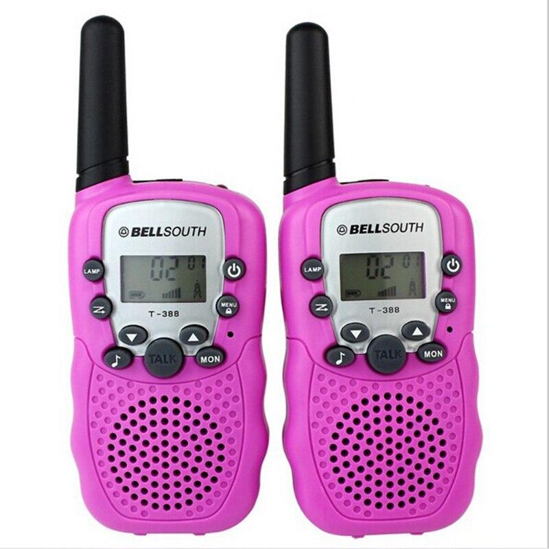 2pcs παιδικό παιχνίδι T-388walkie ραδιόφωνο ραδιόφωνο 0.5w δωρεάν άδεια για παιδιά 2 τρόπο ραδιόφωνο ζαμπόν ραδιόφωνο για τα παιδιά