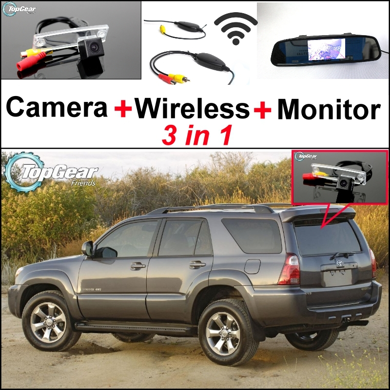 3 in1 Special Wifi Camera + Wireless Receiver + Mirror Monitor Easy DIY Parking System For TOYOTA 4Runner SW4 N210 Hilux Surf цена