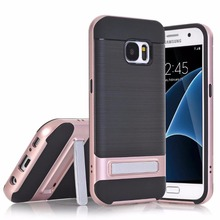 2017 new cellphone cases for Samsung Galaxy S7,30pcs/lot,fiber carbon slim kickstand cover for Glaxy S7 case,free shipping