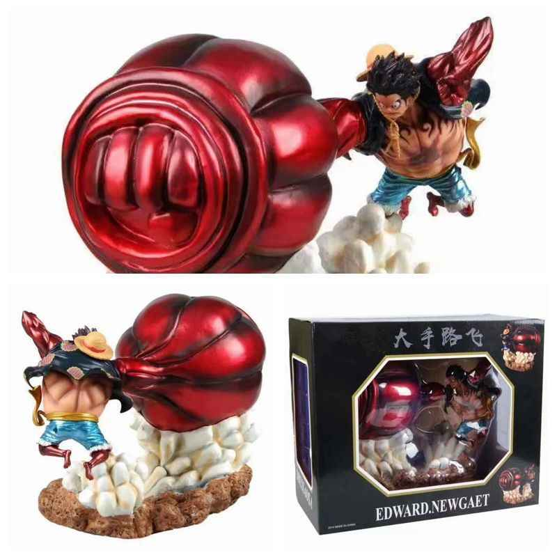 New One Piece Battle Ver Monkey D Luffy Gear 4 Bound Man King Kong Gun Model Toy Luffy Action Figure Collection Kids Toys