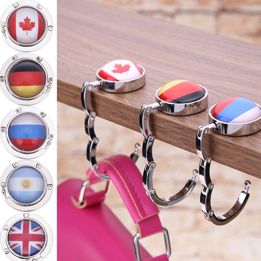 Black Horse Handbag Table Hook Table Hook Folding Bag Desk Hanger Foldable Holder