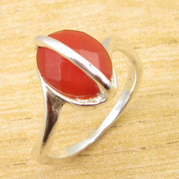Silver Overlay Rare CARNELIAN ANTIQUE STYLE Ring Size 7 GIFT FOR LOVED ONES