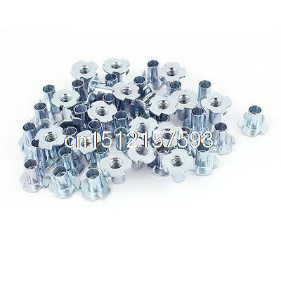 50Pcs 4 Prongs Full Thread Zinc Plated T-Nut Tee Nut 5/16-18 x 11/16 кастрюля regent aura 93 auv 05