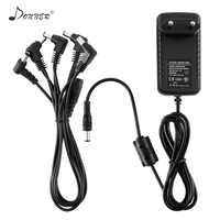 Donner DPA-1 effet pédale alimentation adaptateur câbles guitare 9 V DC négatif 1A 5 voies Daisy chaîne accessoires