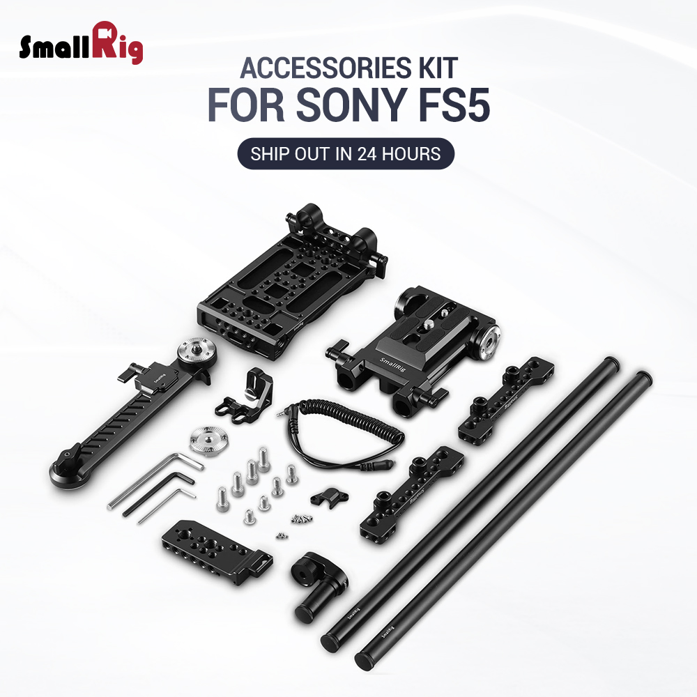 SmallRig fs5 Camcorder Professional Accessory Kit for Sony PXW-FS5 with Shoulder support System 15mm LWS Extension Arm 2007SmallRig fs5 Camcorder Professional Accessory Kit for Sony PXW-FS5 with Shoulder support System 15mm LWS Extension Arm 2007