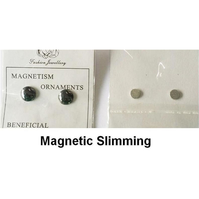 1 Pair Healthy Stimulating Acupoints Stud Earring Bio Magnetic Therapy Weight Loss Earrings Magnet In Ear Eyesight Slimming