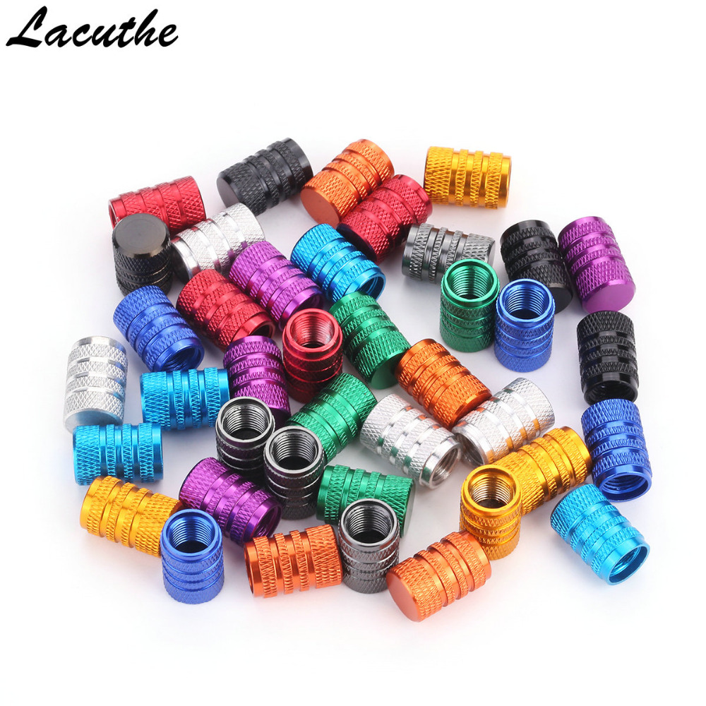 4 Pc/lot Universal Aluminum Car Truck Bike Motorcycle Tyre Tire Valve Core Caps Wheel Valve Stem Cap Dust Cover CT222