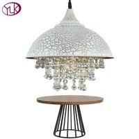 Youlaike белый винтажный промышленный подвесной светильник в скандинавском ретро стиле, Железный Абажур, лофт Эдисона, лампа для столовой, хрус