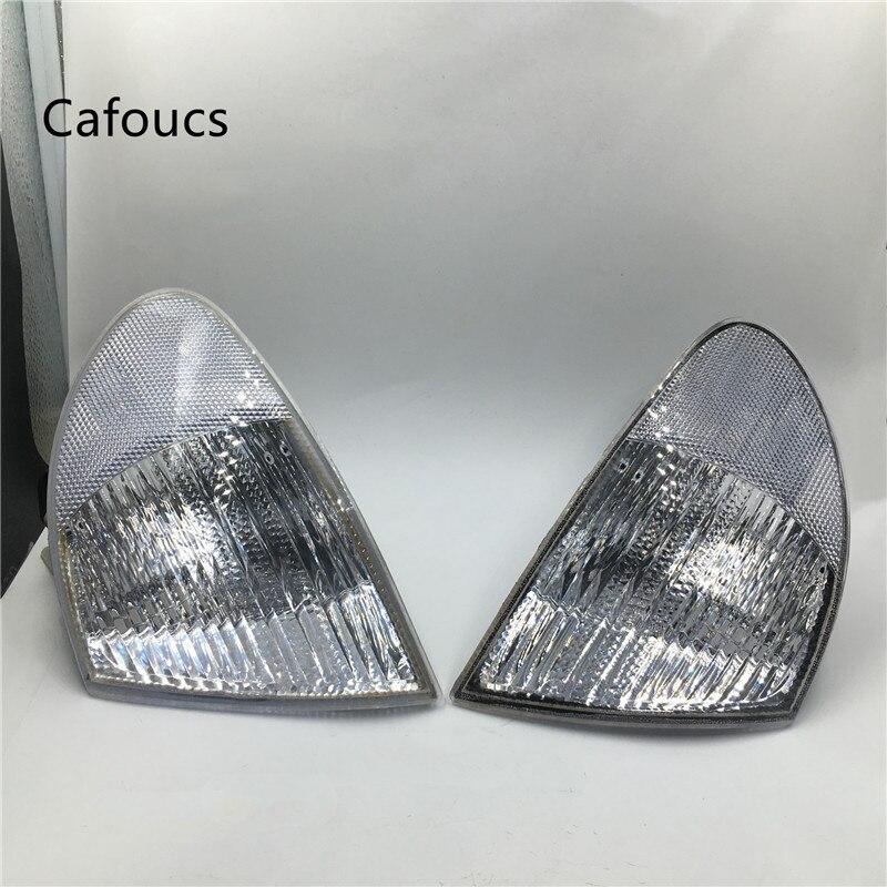 Cafoucs Clear White Corner Light Turn Signal Parking Lamp For BMW E46 320i 323i 325i 328i 330i 1999-2001 cafoucs front turn signal lamp light corner lamp steering lamp for mitsubishi pajero montero v43 v45 v46