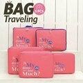 Cubos de embalaje de las mujeres bolsas de viaje en bolsa neceser de viagem de equipaje conjunto de diseño de lona impermeable bolsa sacoche casa masculino