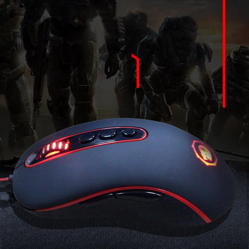 Professional Wired Gaming Mouse 9 Button 4000DPI Rat LED Optical USB Computer Mouse Game Player Mouse Office Mouse цена и фото