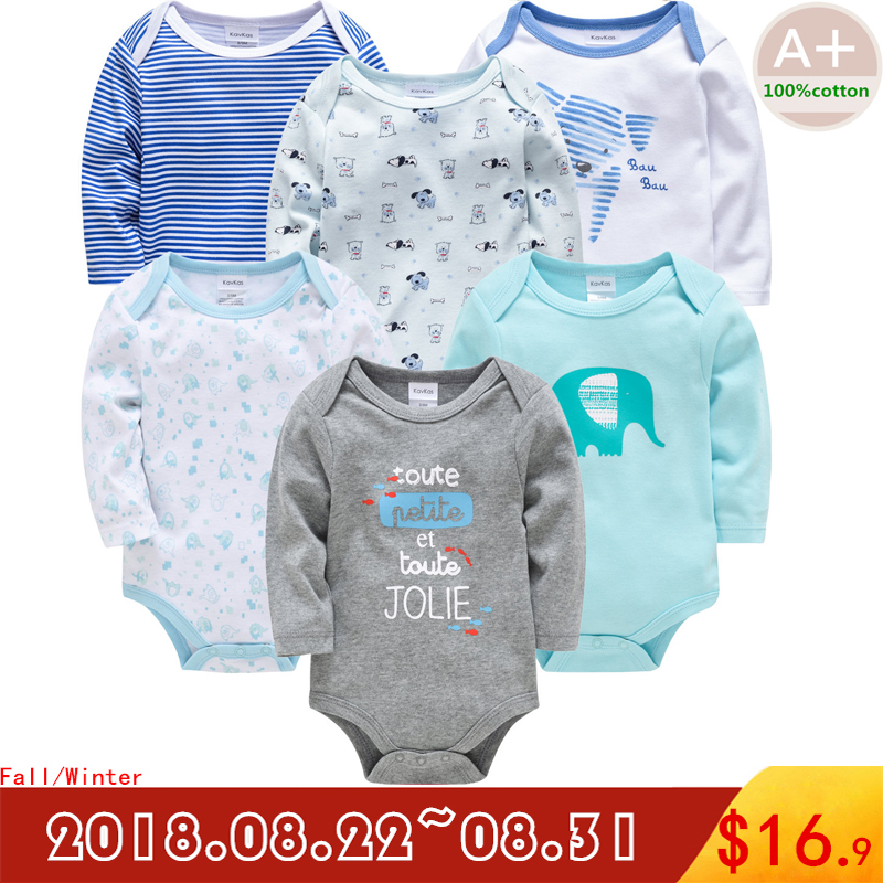 2018 Autumn Baby Boy Clothes Bebe Cotton Baby Boy Clothing Underwear 3 6 9 12 18 24 Months Newborn Baby Girl Clothes Set Baby