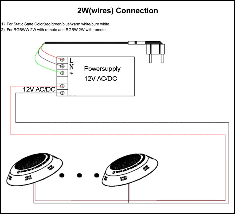 2W(wires) Connection-RGBW