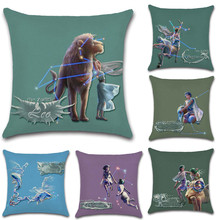 Signs of Zodiac Leo Aries Taurus Cushion Cover Decoration for Home house sofa chair seat pillow case kids gift friend present deadpool movies comic printed cushion cover party decoration for home house sofa chair seat pillow case kids gift friend present