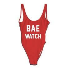 Onseme BAE WATCH Swimsuit Women Summer Hipster Beach Bodysuit Bathing Suit One Piece Swimwear Female Sexy Monokini Beachwear