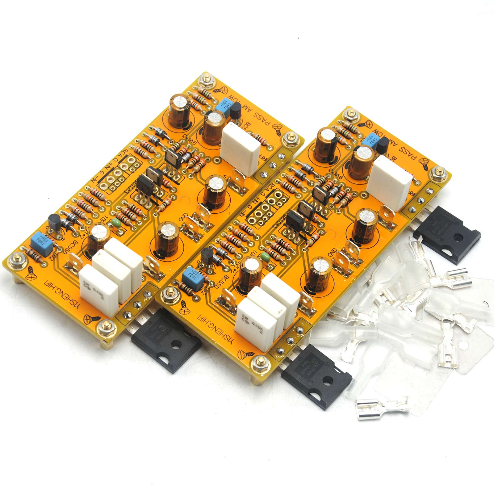 Image 5 - One Pair PASS AM single end Class A Amplifier Board Pre amp 10W 8ohms DC 18V 0V 18V-in Amplifier from Consumer Electronics