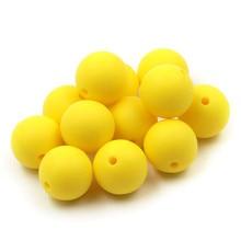 JOJOCHEW 100 vnt 9mm-19mm geltona karšta nauja silikoninė kūdikių karoliukų karoliukai BPA nemokama apvali Cuentas de silicona juvelyrinių dirbinių gamyba