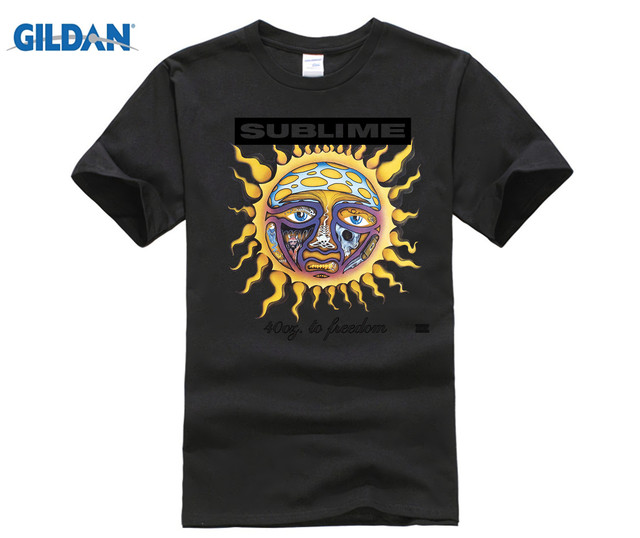 947f0e85a Gildan New Sublime 40 Oz. To Freedom Rock Band White men t shirt-in ...