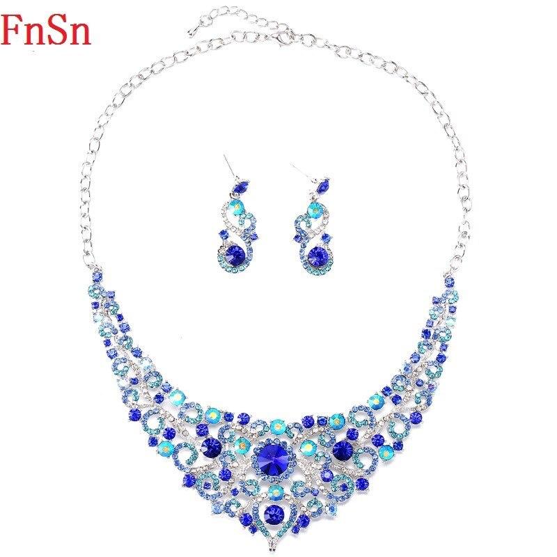 FnSn Νέα Κοσμήματα Σετ Κρίσταλ Κολιέ - Κοσμήματα μόδας - Φωτογραφία 6