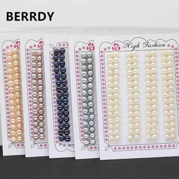 Wholesale AAAA 5 5 6MM Natural Freshwater Pearl Beads Loose Akoya Pearl Beads Hot Cheap Women