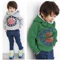 Moda Bebê Meninos Crianças Casaco Grosso Tops Hoodies Mornos Jaqueta Camisola Pulôver Outwear 2-7A Alta Qualidade