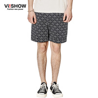 VIISHOW Mens Gym Sport Jogging Print Shorts Fashion Fitness Shorts Comfortable Cotton Men Beach Trousers For