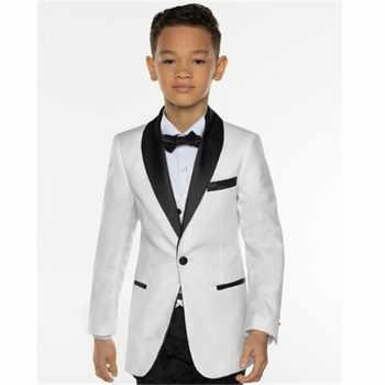 Compra 2018 traje hombre blanco traje 3 piezas (chaqueta + Pant + Vest + Tie)  curso del novio Terno 14d29de4fd5
