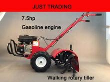 Home using 7 5hp gasoline engine hand push walking tractor rotary tiller walking cultivator walking weeding
