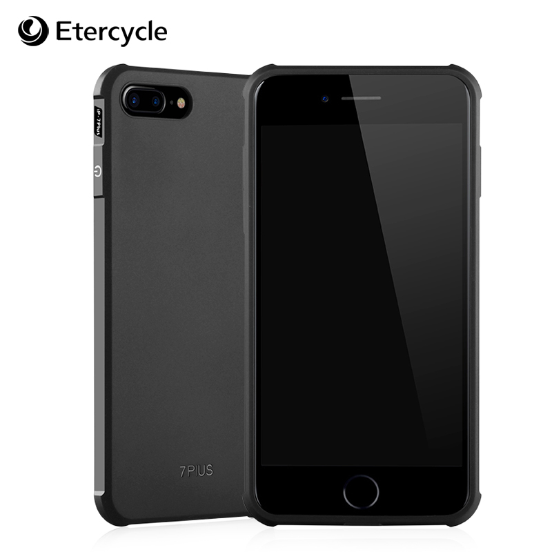 Luxury Simple Silicone Case for iPhone 7 Plus 3D Anti