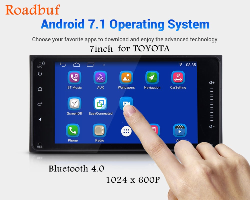 2 Din Bluetooth 4.0 Car Multimedia Player 7-Inch HD Android 7.1 Car Intelligent System For TOYOTA With Wifi GPS Navigation dean vendetta xmt