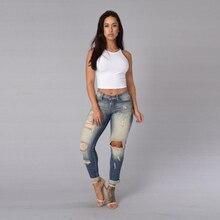 Aliexpress горячая стиль Sexy MS Haroun джинсы Европа и соединенные Штаты женской одежды носить тонкие отверстия джинсы трусики