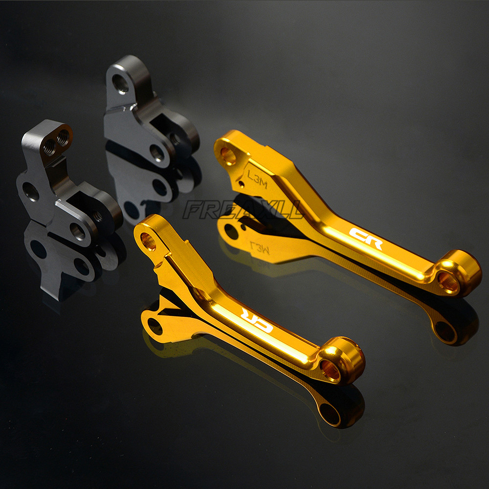 For Honda CR125R CR 125 R 1992 2007 Logo CNC Aluminum Motorcycle Pivot Dirt Bike Brake Clutch Levers Motorbike Accessories in Levers Ropes Cables from Automobiles Motorcycles