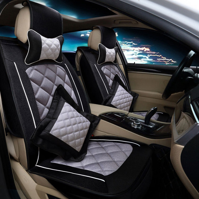 2017 Five Seat Automotive Linen Fabric Universal Car Cover Accessories Interior For TOYOTA
