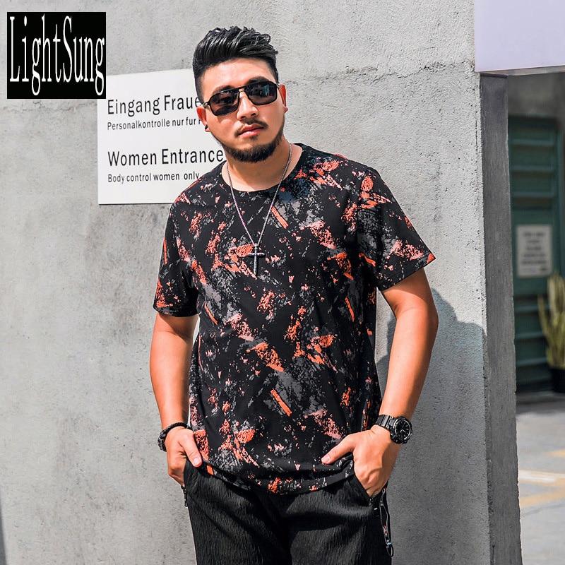 Мода лето печати 2018 Новое поступление выстрел рукавом тонкий большие размеры камуфляж цвет Мужчины футболка свободный стиль