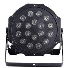 18*3 Вт Профессиональный LED Свет Этапа Наивысшей Мощности ГАММА DJ Освещения Автозвук DMX512 Ведущий-Ведомый LED Плоским ПАР Свет для Партии КТВ