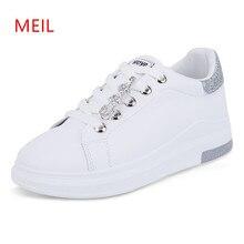Women White Platform Sneakers 2018 Tenis Plataforma Ladies Shoes Casual Flat