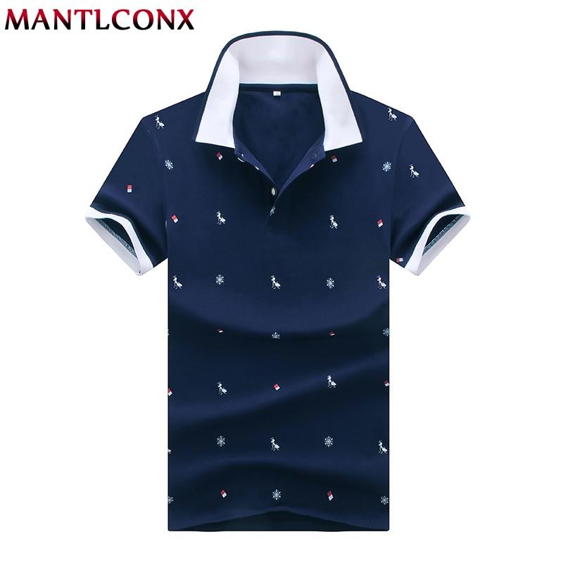 MANTLCONX 2019 New Mens   Polo   Shirt Brands Male Short Sleeve Brand Men   Polo   Shirt Men Summer Short Sleeve   Polos   Shirt White Blue
