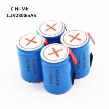 Nova bateria recarregável para Dewalt para Makita para Bosch para Hitachi 4/5 acumulador batterie SUBC NICD 2800 mah 1.2 v