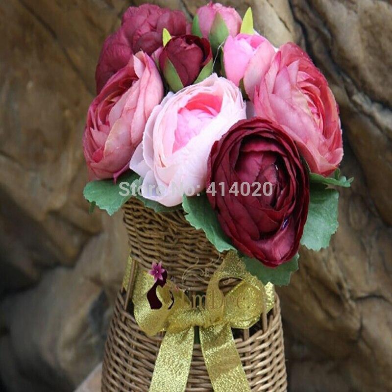 10pcs D-Café Ruban Satin gros Pivoine Fleur Appliques//CRAFT//mariage décoration