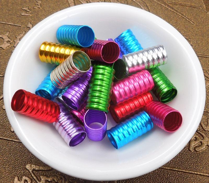 60Pcs/Lot mix color 8/16mm Plated hair braid dread dreadlock beads adjustable cuff clip 8mm hole clip+3pcs free  hair beads